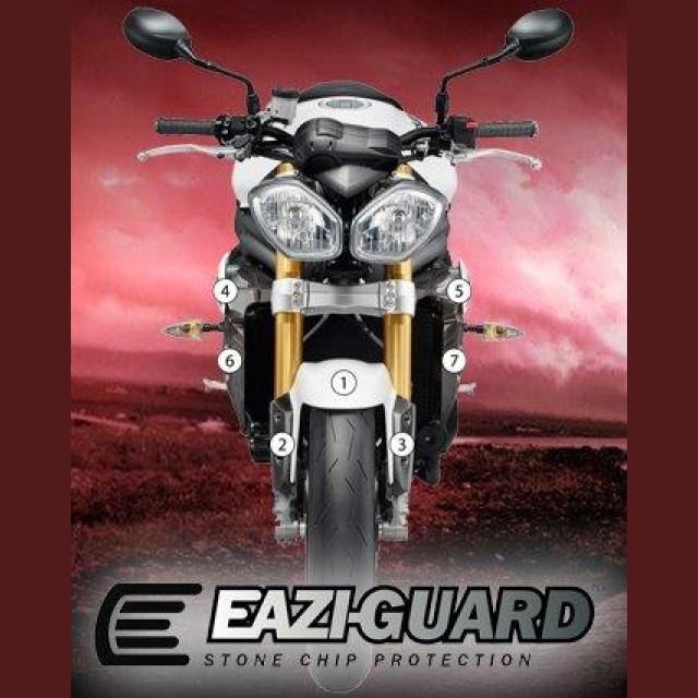 Eazi-Guard Steinschlagschutz Folien Triumph Speed Triple 1050 2011-